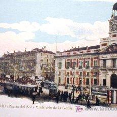 Postales: PUERTA DEL SOL .MINISTERIO DE GOBERNACIÓN. Lote 3366688