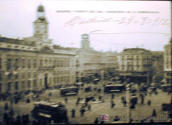PUERTA DEL SOL. MINISTERIO DE GOBERNACIÓN (Postales - España - Comunidad de Madrid Antigua (hasta 1939))