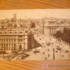 Postales: POSTAL ANTIGUA DE MADRID VISTA PARCIAL CON TRANVIAS CIRCULANDO, 34 GRAFOS MADRID.. Lote 3660430