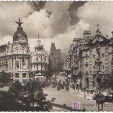 Postales: MADRID - CALLE DE ALCALA Y AVENIDA DE JOSE ANTONIO. EDICIONES GARCIA GARRABELLA Nº 1.-. Lote 3829442
