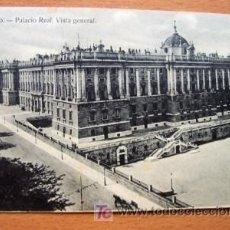 Postales: MADRID - PALACIO REAL - EDICIÓN GRANDES ALMACENES MADRID-PARÍS - PRINCIPIOS DE SIGLO XX. Lote 27493755