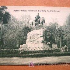Postales: MADRID - RETIRO: MONUMENTO AL G. CAMPOS - EDICIÓN GRANDES ALMACENES MADRID-PARÍS - P. DE SIGLO XX. Lote 20050826