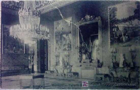 MADRID - PALACIO REAL:SALETA DE DIARIO SIN CIRCULAR (Postales - España - Comunidad de Madrid Antigua (hasta 1939))