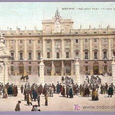 Postales: TARJETA POSTAL DE MADRID. PALACIO REAL. PLAZA DE LA ARMERIA. 17.. Lote 4608581