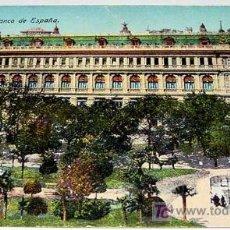 Postales: ANTIGUA POSTAL DE MADRID - BANCO DE ESPAÑA - ED. E. R. MADRID - NO CIRCULADA - ESCRITA.. Lote 4635936