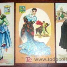 Postales: LOTE DE 3 POSTALES TIPOS DE MADRID. Lote 41739489