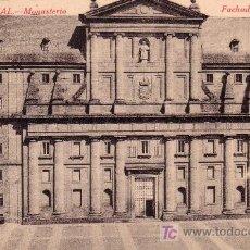 Postales: EL ESCORIAL - MONASTERIO . FACHADA PRINCIPAL. Lote 11650578