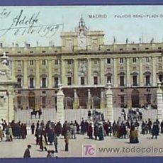 Postales: MADRID. PALACIO REAL. PLAZA DE LA ARMERIA. Nº17 UNION POSTAL UNIVERSAL.. Lote 24954274