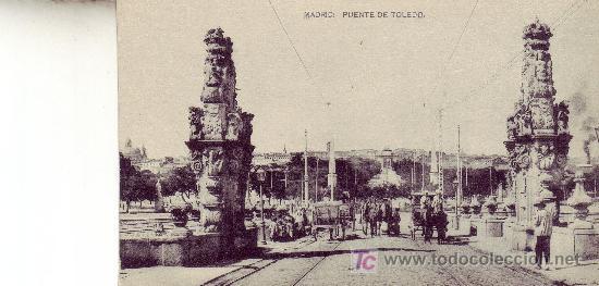 PUENTE DE TOLEDO. POSTAL FOTOGRAFICA DE MADRID. (Postales - España - Comunidad de Madrid Antigua (hasta 1939))