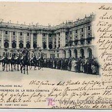 Postales - MADRID. PALACIO REAL. PALAFRENEROS DE LA REGIA COMITIVA. HAUSER Y MENET 763. A CANOVAS FOT.CIR 1902 - 5243720