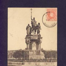 Cartes Postales: POSTAL DE MADRID: MONUMENTO A ISABEL LA CATÓLICA (HAUSER Y MENET NUM.22). Lote 5258915