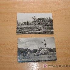 Postales: 2 POSTALES FUENTE DE NEPTUNO MADRID. Lote 7461043