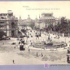 Postales: TARJETA POSTAL DE MADRID. PLAZA DE CASTELAR Y CALLE ALCALA. FOTOTIPIA HAUSER Y MENET . - MADRID.. Lote 5543877