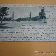 Postales: PLAZA Y MONUMENTO DE COLON . Lote 18477696
