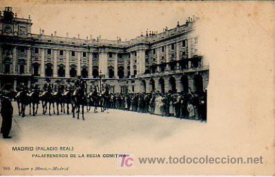 MADRID. (PALACIO REAL). PALAFRENEROS DE LA REGIA COMITIVA. HAUSER Y MENET, 763. (Postales - España - Comunidad de Madrid Antigua (hasta 1939))