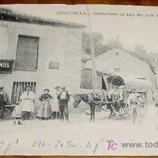 Postales: ANTIGUA POSTAL DE CERCEDILLA (MADRID) - CARRETERA DE LOS MOLINOS Y DE FUENFRIA - FOTO LACOSTE - ESC. Lote 27200463