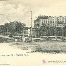 Postales: MADRID. PASEO SAN VICENTE Y PALACIO REAL. HAUSER Y MENET.. Lote 7142575