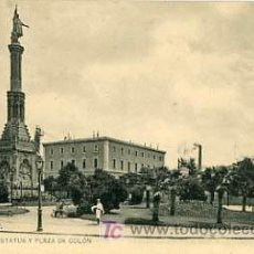 Postales: MADRID, ESTATUA Y PLAZA DE COLON, P16956. Lote 9595171