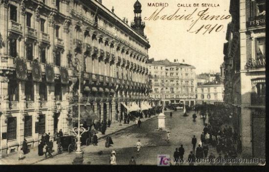 MADRID. CALLE DE SEVILLA. (Postales - España - Comunidad de Madrid Antigua (hasta 1939))