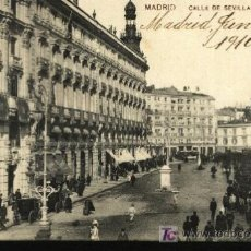 Postales: MADRID. CALLE DE SEVILLA.. Lote 6746972