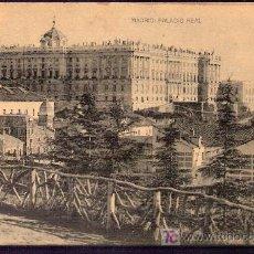 Postales: TARJETA POSTAL DE MADRID. PALACIO REAL. FOTOTIPIA HAUSER Y MENET. - MADRID.. Lote 6146345
