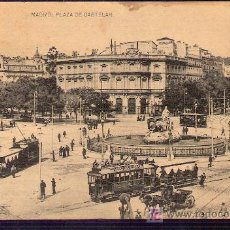 Postales: TARJETA POSTAL DE MADRID. PLAZA DE CASTELAR. FOTOTIPIA HAUSER Y MENET. - MADRID.. Lote 6146358