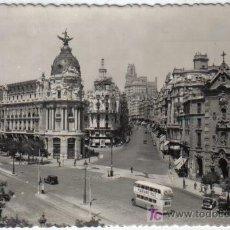 Postales: 16 - MADRID - CALLE DE ALCALA Y AVENIDA DE JOSE ANTONIO. Lote 27036813
