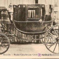 Postales: TARJETA POSTAL COCHE REAL PUBLICIDAD DE CHOCOLATES COLUMBA CAFES. Lote 27133166