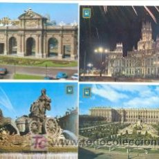 Postales: 4 POSTALES MADRID ,,,, SIN CIRCULAR AÑOS 70. Lote 6557382