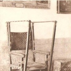 Postales: EL ESCORIAL, SILLA GESTATORIA DE FELIPE II - GRAFOS Nº 36. Lote 6857792