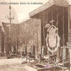 Postales: EL ESCORIAL, PALACIO, SALON DE AUDIENCIAS - GRAFOS Nº 39. Lote 6857827