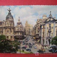 Postales: MADRID - CALLE DE ALCALA Y AVENIDA JOSE ANTONIO. Lote 6999938