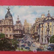 Postales: MADRID - CALLE DE ALCALA Y AVENIDA JOSE ANTONIO. Lote 7000592