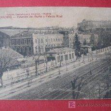 Postales: MADRID - ESTACION DEL NORTE Y PALACIO REAL. Lote 7022294