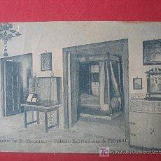 Postales: MONASTERIO DE EL ESCORIAL - PALACIO - HABITACIONES DE FELIPE II. Lote 7027769