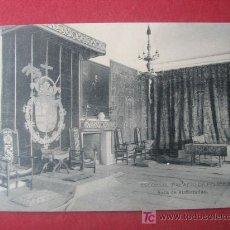 Postales: ESCORIAL - PALACIO DE FELIPE II - SALA DE AUDIENCIAS. Lote 160153790