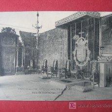Postales: ESCORIAL - PALACIO DE FELIPE II - SALA DE AUDIENCIAS. Lote 7027940