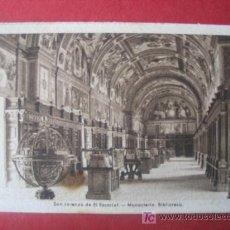 Postales: SAN LORENZO DE EL ESCORIAL - MONASTERIO - BIBLIOTECA. Lote 7041115