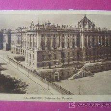 Postales: MADRID - PALACIO DE ORIENTE - . Lote 7041913