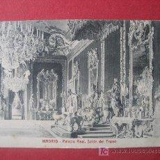 Postales: MADRID - PALACIO REAL - SALON DEL TRONO . Lote 7048882