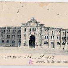 Postales: MADRID. PLAZA DE TOROS. FOT. LAURENT. REVERSO SIN DIVIDIR CIRCULADA. Lote 7224747