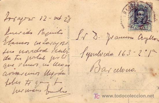Postales: MADRID CALLE DE ALCALA FOTOTIPIA HAUSER Y MENET. CIRCULADA 12/10/1928 ZARAGOZA A BARCELONA.TRANVIAS - Foto 2 - 7238011