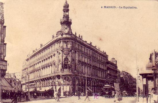 MADRID: LA EQUITATIVA. FTO. LACOSTE. SIN CIRCULAR. TEMATICA: TRANVIAS. (Postales - España - Comunidad de Madrid Antigua (hasta 1939))