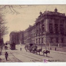 Postales: MADRID: PALACIO REAL VISTA GENERAL. FOT. LACOSTE. SIN CIRCULAR. TEMATICA: TRANVIAS. . Lote 24766232