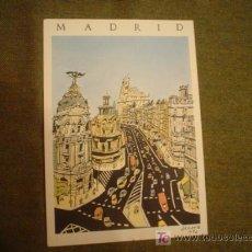 Cartoline: MADRID. GRAN VIA (VISTA POR EL DIBUJANTE ARRANZ). Lote 7293159