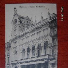 Postales: MADRID - CASINO DE MADRID. Lote 7615769