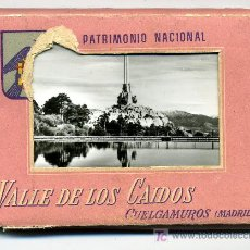 Postales: VALLE DE LOS CAIDOS - PATRIMONIO NACIONAL - (TIRA DE 18 POSTALES) MUY ANTIGUAS - CUELGAMUROS (MADRID. Lote 26579165
