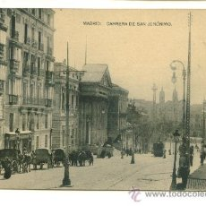 Postales: MADRID, CARRERA DE SAN JERONIMO, HAUSER Y MENET. Lote 16663924