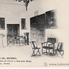 Postales: MONASTERIO DEL ESCORIAL.HAUSER & MENET.MADRID Nº1104.HABITACION DE FELIPE II. Lote 8061128