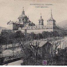 Postales: MONASTERIO DEL ESCORIAL.VISTA GENERAL.FOTOTIPIA DE HAUSER & MENET.CIRCULADA.. Lote 25827839